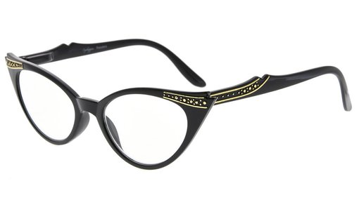 Reading Glasses Cateyes Readers Women Black R914
