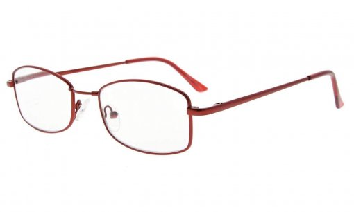 Reading Glasses With Memory Bendable Bridge Women Wine Red R1712