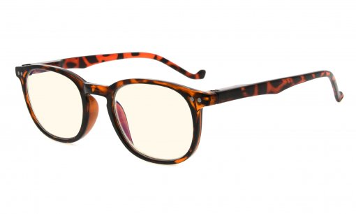 Computer Glasses UV Protection Tinted Lenses Vintage Women Men Tortoise CG065