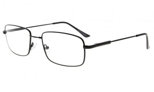 Memory Reading Glasses With Bendable Titanium Bridge And Temple Black R1701