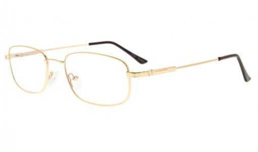 Bendable Titanium Memory Reading Glasses Readers Gold R1703