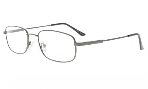 Bendable Titanium Memory Reading Glasses Readers Gunmetal R1703