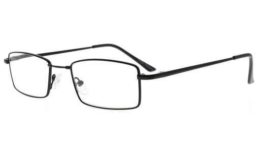 Spring Hinges Reading Glasses With Bendable Memory Titanium Bridge Readers Black R1709