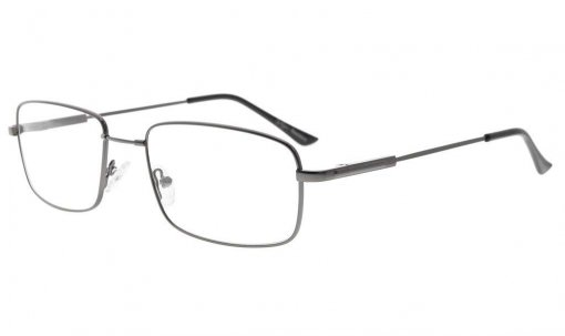 Memory Reading Glasses With Bendable Titanium Bridge And Temple Gunmetal R1701