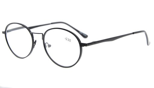 Spring Hinges Oval Reading Glasses Black R1641