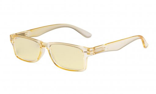 Ladies Blue Light Blocking Reading Glasses with Yellow Filter Lens - Design Computer Readers Women - Yellow TM066
