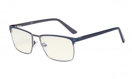 Blue Light Filter Glasses Women Men - UV420 Protection Computer Eyeglasses - Blue LX19010-BB40