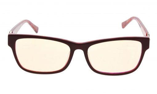 Computer Reading Glasses with Acetate Frames and Tinted Lens Brown/Red AH6208