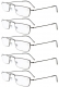 5-pack Cheap Metal Reading Glasses Small Readers R15004-5pc