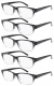 5-pack Spring Hinges Vintage Reading Glasses Sun Readers R019-5pcs