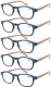Reading Glasses 5-pack Bamboo Pattern Temples with Quality Spring Hinges Readers R034-5pcs