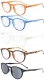 Reading Glasses 5 Pack Quality Spring Hinges Oval Round Includes Sun Readers R071-Mix