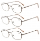 3 Pairs Metal Frame Spring Hinged Arms Reading Glasses R3232-3pcs