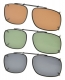 3-pack Clip-on Polarized Sunglasses 2 1/16×1 7/16 inch (52x36MM) C86-3pcs-Mix