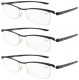 3-pack Lightweight Double Color Frame Plastic Reading Glasses R12113-3pcs