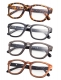 Reading Glasses 4-Pack Classic Design Frame with Quality Spring Hinges R089-Mix-4pcs