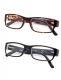 Reading Glasses 2-pack Classic Full Frame Design with Quality Spring-Hinges Temples R092-2pc-Mix