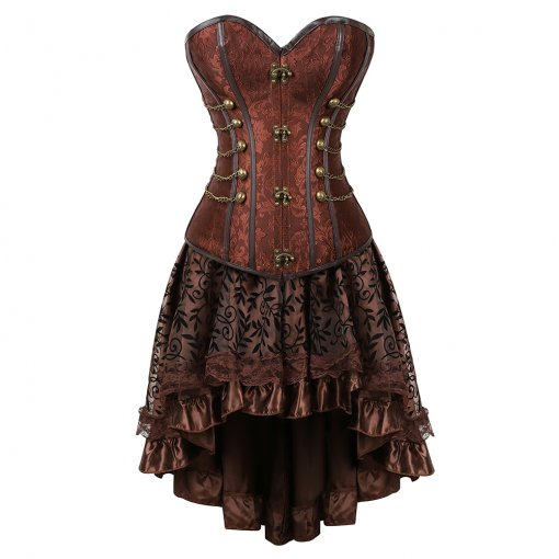 Metal Button Accessories Noble Top Elegant Pattern Dress