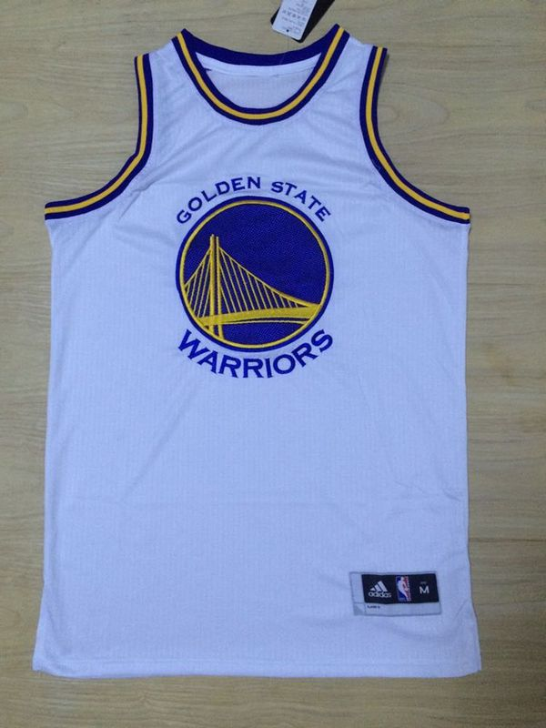 US$ 20 - NBA Golden State Warriors White Big Logo Jersey - w
