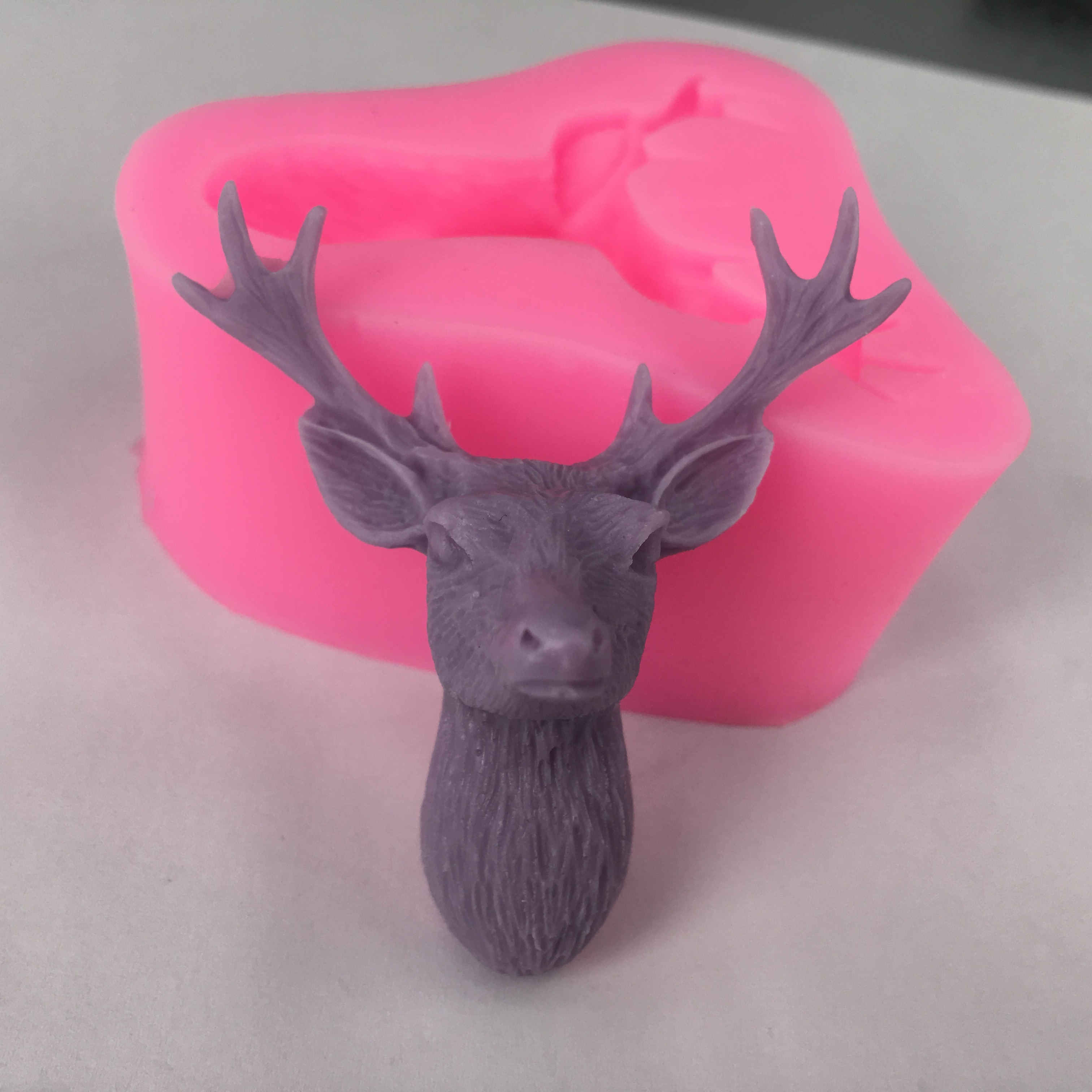 bk1051 3d stag head silicone molds christmas deer fondant cake soap mold gumpaste chocolate mold item no bk1051