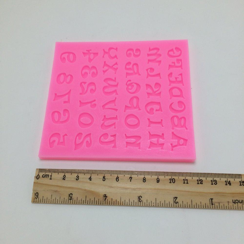 X1016 Englisch Brief Und Zahl Form Silikon 3d Fondant Kuchenform