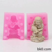 Silicone Mold Cake Decorating 3D Girl Soap Molds WE004