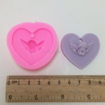 BN006 angel pendant aroma wax tablets silicone mold crafts gypsum silicone mold car decoration ornaments gift