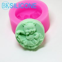 Girl Bear Dance Soap Mold Craft Molds Silicone Moulds AM017