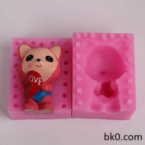 3D Fox Silicone Candle Molds Chocolate Love Heart Soap Mould Cake Decorating Tools BKSILICONE WB018