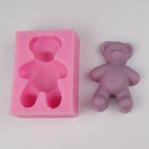 BG017 discount handmade silicone soap Molding bear cake molds Cake Decoration