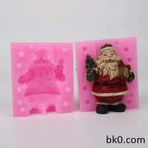 3D Christmas Molds Silicone Christmas Music Santa Claus Shape Soap Mold Gypsum DIY WC015