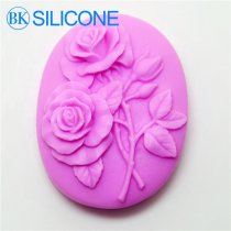 Top Fashion Rose Silicone Soap Molds Cake Cookie Mould Liquid Silicone rubberr AG024