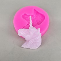 BK1096 3D Unicorn Shape Silicone Mold Soap Fondant Chocolate Moulds Candy Cake Molds Embossed Baking Molds DIY Wedding Decoration Tools