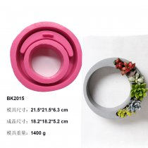 BK2015 concrete cement fleshy flowerpot silicone mold wreath creative modeling home furnishing gift model