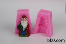 3D Santa Claus Soap Mold Christmas Wreath Cake Decoration Resin Molds WC016