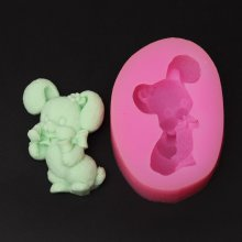 Silicone Soap Mold Rabbit Moulds Animal Resin Mold AY005