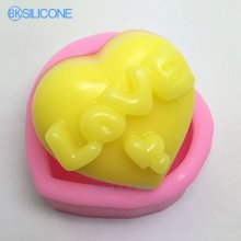 Love Silicone Soap Mold Wedding Mold Candle Mould DIY AN010