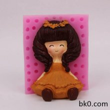 Flower Girl 3D Silicone Candle Molds Chocolate Soap Cookie Mould Cake Decorating Tools BKSILICONE WA020