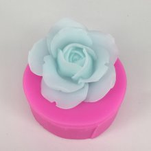 BK1070 3D Rose Flower Silicone Mold Untuk Fondant Cake Decorating Alat Sugar Craft Chocolate Permen Fimo Clay Soap Molds