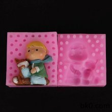 Boy And Fox Molds 3D Soap Silicone Cake Mould Candle Molds for Cakes Decorating Moulds WA009
