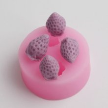 BD025 3D Strawberry Moulds Sugarcraft Cake Decorating Fondant Chocolate Mold Cupcake Kitchen Baking Tools