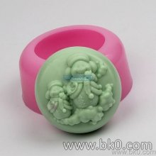 BJ012 Snowman Silicone Soap Mold Form For Soap Clay Mold Salt Carving Mould Wholesale