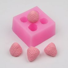 AZ004 Silicone Lovely 3d Strawberry Fondant Mold,Cake Sugarcraft Paste Decoration Mold
