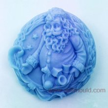Christmas Santa Clause Craft Art Silicone Soap Mold Craft Molds DIY Handmade Soap Molds AW005