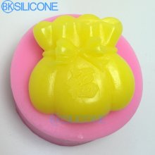 Silicone Mold Fortune Bag Soap Molds Bowknot Mould Blessed Chinses Style AO002