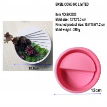 BK2023 Small House Staircase Cement Flower Basin Molde de silicona Nordic Step Flower Body Florero Model