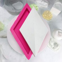 BK2038 Cement Diamond Wall Brick Silica Gel Mould Decoration TV Gypsum Background Wall Sticking Mould