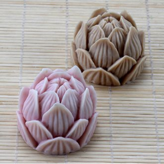 3D Lotus Silicone Soap Molds Chocolate Cookie Acuan Bunga Cake Decorating Tools AF017