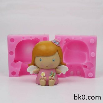 Ny Ankomst Smuk Angel Girl Shape 3D Silicone Cake Mould Lys Forme WD014