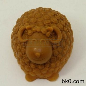 3D Curly Sheep Silicone Molds Håndlaget Chocolate Soap Cake Mould Silicon Mould AA001